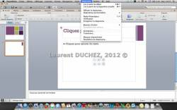 Onglets et Menus Powerpoint 2011